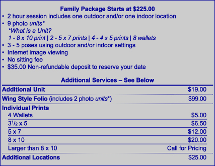 family portraits information